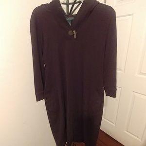 Ralph Lauren Dark brown hooded sweat shirt top